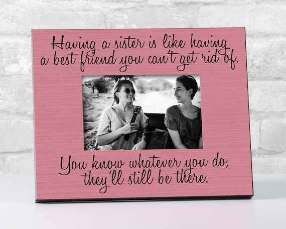 Big Sister Gift For Sister From Sister Sister From Brother Gift Sister Birthday Gift Ideas For Her Sisters Picture Frame