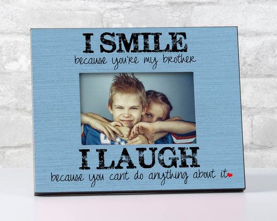 Gift For Brother Birthday Siblings Picture Frame To