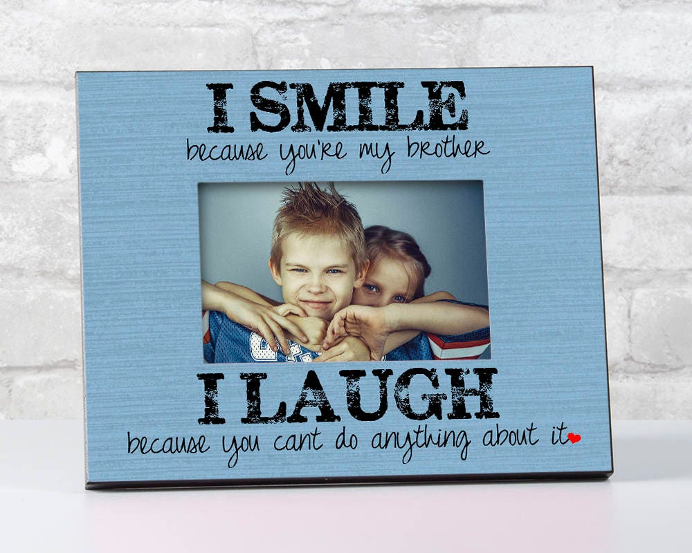 Gift for Brother Birthday Gift, Siblings Picture Frame, To Brother ...