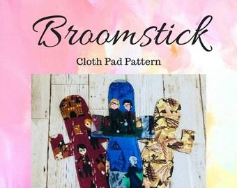 Broomstick Cloth Pad Pattern, Cloth Pad Pattern, Sewing Pattern