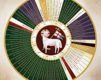 Lutheran THREE YEAR Lectionary Liturgical Calendar