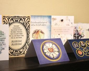 Ten greeting cards