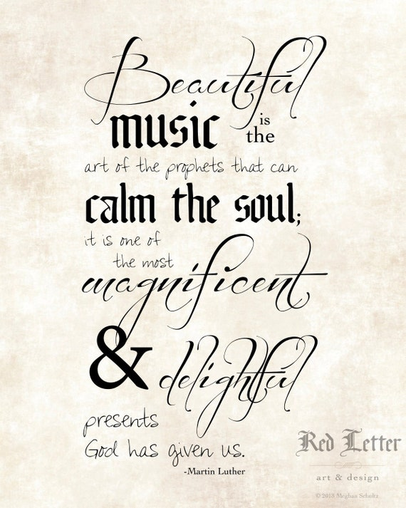 Download Luther Music Quote Etsy