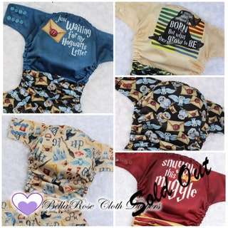 Harry Potter collection - Harry Potter ~Letter,  ~toss, ~Sorting Hat, ~Owl Post, ~Snuggle- One size and Newborn cloth pocket diaper