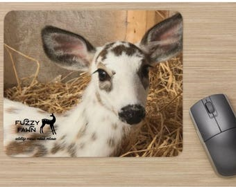 """Fuzzy Fawn Deer/Mouse Pad  """"BOO"""""""