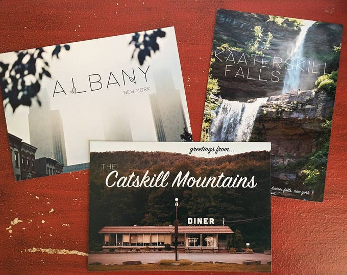 3 Pack Upstate NY Postcards // Phoenicia NY - Kaaterskill Falls - Albany NY