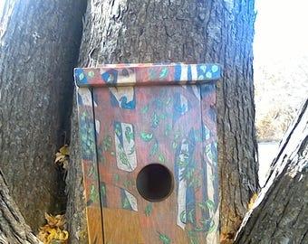 Handmade/painted whimsicle birdhouse