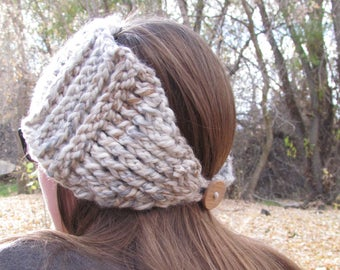 Sweet Ridges Ear Warmer: Crochet Women's Ear Warmer, Fall and Winter Fashion