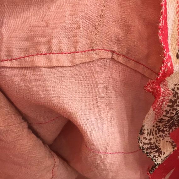Vintage 20's SILK CHIFFON FLORAL Dress / Garden T… - image 9