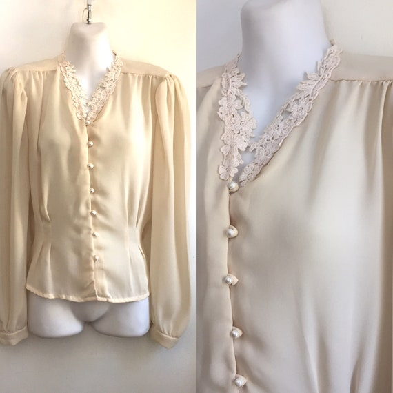 Sweet Vintage 70's Does Victorian Blouse with FITT