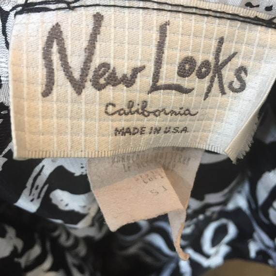 Vintage 80's GRAPHIC Print Smocked Shirt Dress / … - image 10