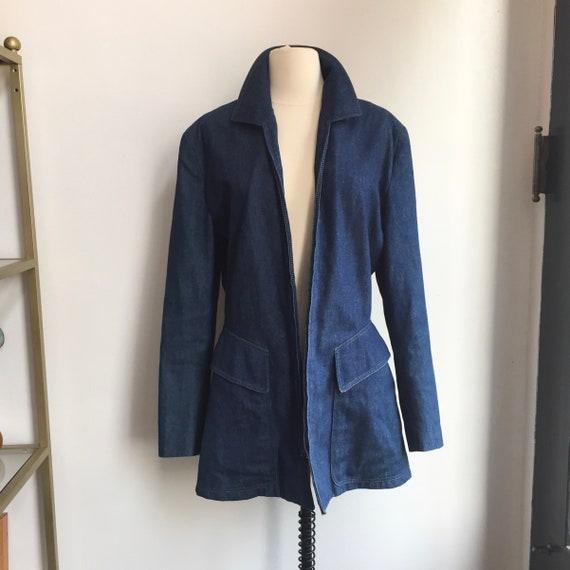 Vintage 70's Does 40's DENIM CHORE Jacket Coat / L