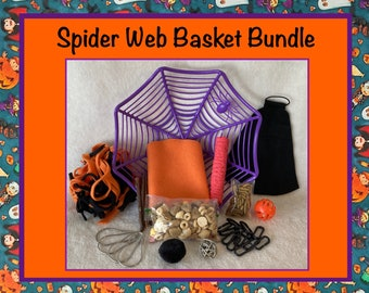Halloween Spider Web Basket Bundle for Pet Rats, Includes Basket, Blanket, Treats, Toys, and Hanging Rings, Great Gift Idea, Free Shipping