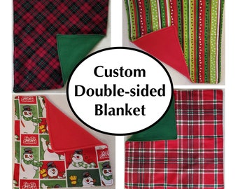 Customizable Double-sided Holiday / Winter Themed Blanket for Pet Rats or other small animals, Multiple Sizes, Colors, and Fabrics Available