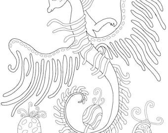 d.Mae Entwürfe Drachen