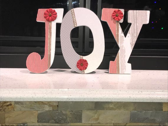 White Pink Gold Wooden Spring Decor Letters Mint Rustic Yellow Personalized Custom