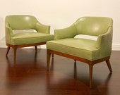 Stunning pair of Harvey Probber lounge chairs