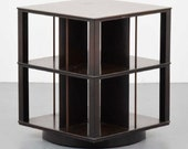Rare mid century modern rotating bookcase by Edward Wormley for Dunbar