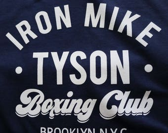 e6e9215d Mike Tyson Tshirt Boxing Club Tshirt Mike Tyson Boxing tee Boxing Top  Unisex T-shirt evander holyfield Cotton t-shirt