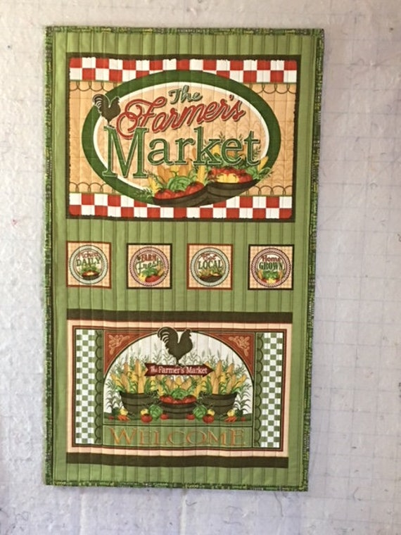 The Farmers Market Quilt Handcrafted Etsy