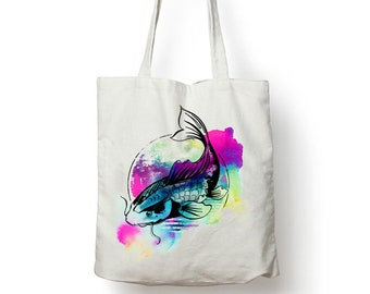 Japanese Koi Fish, Tote, Shopping, Beach, Bag