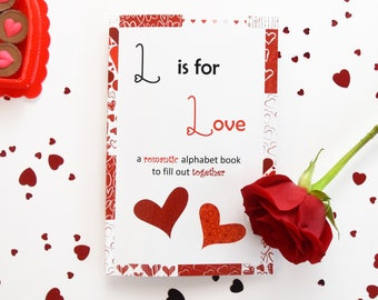 L is for Love (a romantic notebook) (red)