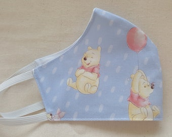 Rather Rainy Day Winnie Print Reusable and Washable Fabric Face Mask ****Shipping includes a tracking number****