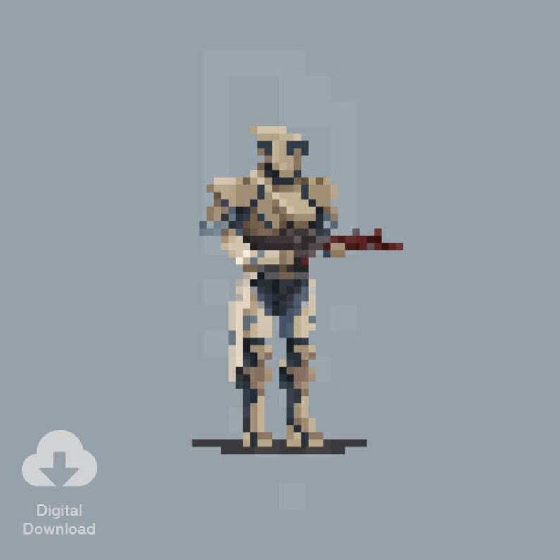 8 Bit Titan – Destiny, Murvaux Armor, Pixel Art, Retro, Prints,  Illustration, Art – Digital Download