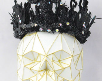 Fine Handcrafted Black Stag Crown