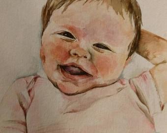 Custom portrait, child portrait, baby portrait