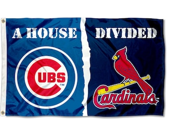 Chicago Cubs vs. St. Louis Cardinals House Divided Rivalry Flag