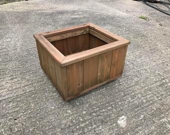 Garden planter, wooden planter box.