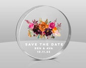 Save the date magnet-modern Save the date magnet-clear Save the date-acrylic save the date-engraved save the date-modern wedding-perspex