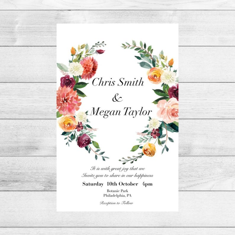 Calendar Save the Date magnet-Save the Date magnet-Custom save the date-Rustic save the date-Floral Wedding magnet-Save the Date postcard