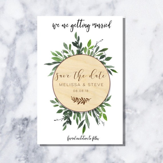 Wooden Save The Date Magnet-Save The Date Magnet-Save The