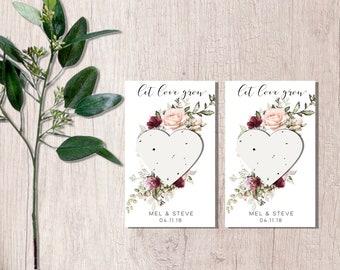 Wedding seed favors-let love grow wedding favors-plantable seed paper-wedding Seed packets-plantable wedding favors-seed bomb favors-