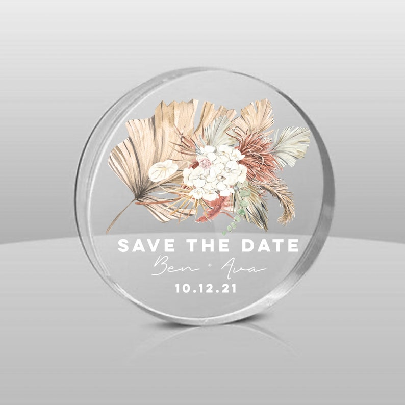 Modern Boho Save the Date Magnet - Clear Acrylic