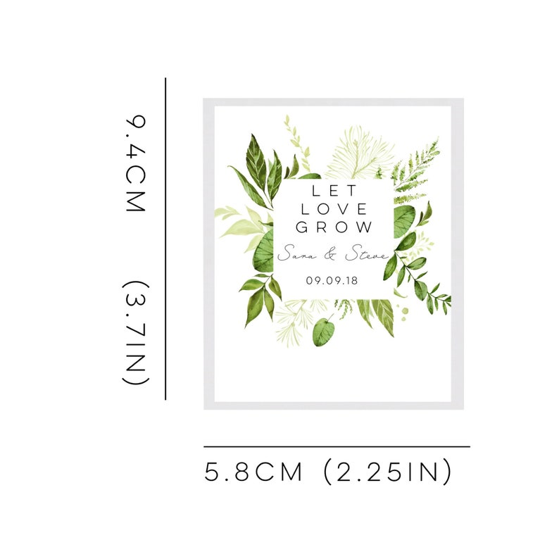 Wedding favours-wedding favors-plantable wedding favor-let love grow seed packets-seed wedding favors-baby shower favors-plantable seed pape