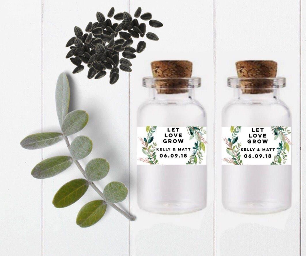 Let Love Grow-Seed favor jar-seed favor bottle-test tube