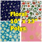 FLORAL Poly Mailers  - 10 x 13 Envelopes -Shipping Envelopes -Adhesive Mailer - Water Resistant - Heavy Duty Mailers  Flat Envelope