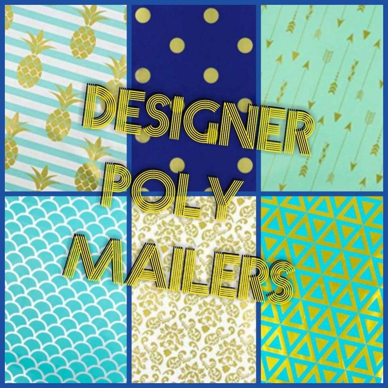 Designer Poly Mailers  10 x 13 Envelopes  Shipping Envelopes image 0