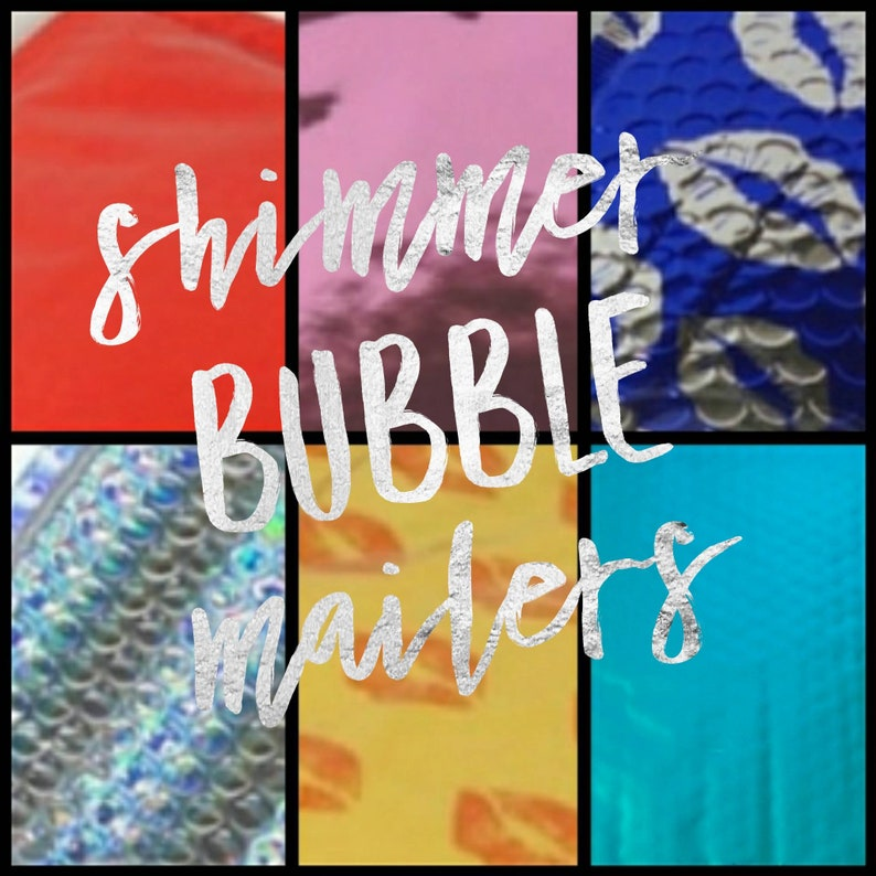 Shimmer Bubble Mailers 6 x 9 image 0