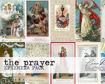 The Prayer (Religious) Digital Vintage Ephemera Pack