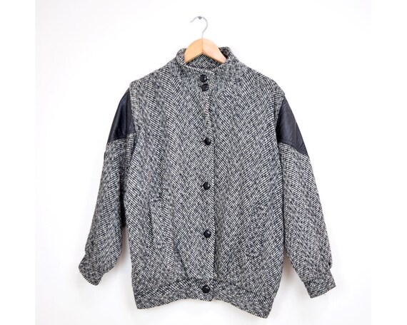 80s Unisex Women or Mens Tweed Jacket | Plus Size