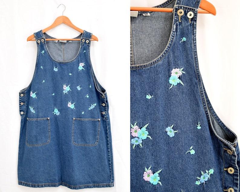 Dungaree Dress, Jean Dress   Plus Size Overalls Dress