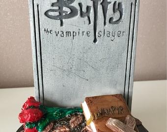 Stone headstone Buffy the vampire slayer