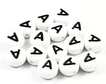 Letter A - 7 mm - x 5 beads