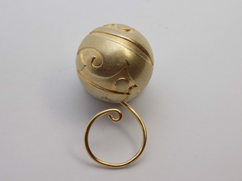 Golden Jolly Magnetic Portuguese Knitting Pin