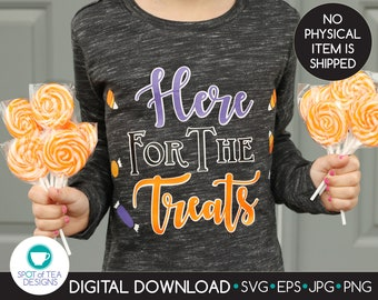 Here for the Treats SVG cut file   Halloween Candy Cut File   Halloween Candy Corn Digital Design   svg   eps   DIGITAL DOWNLOAD