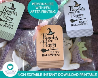 Halloween Party Favor Tags   Halloween Party Printable   Witches Night Out   Moms Night Out   INSTANT DOWNLOAD